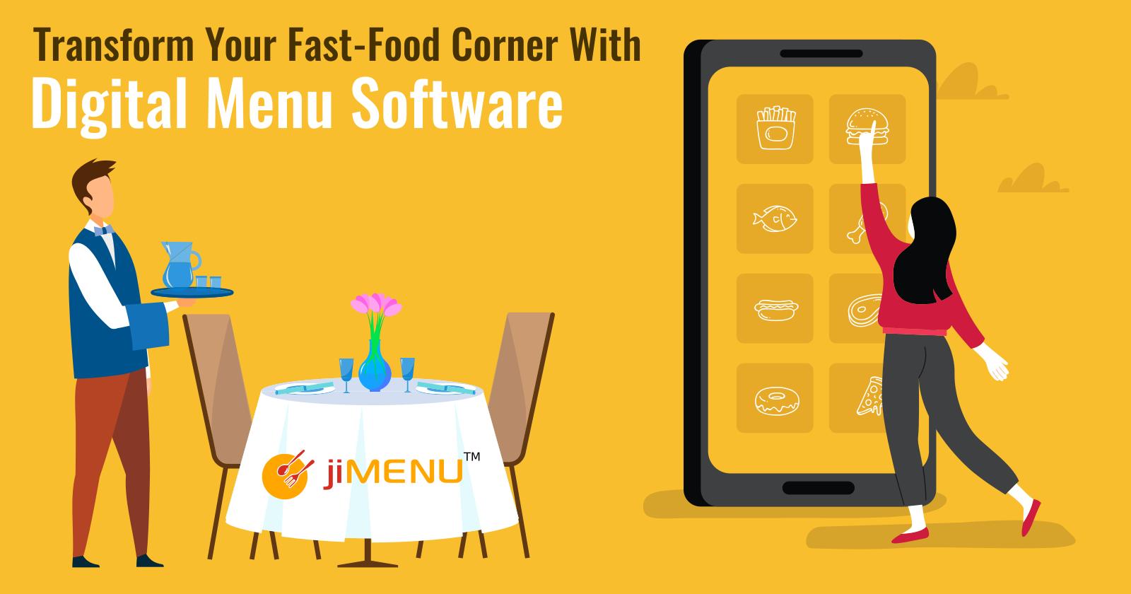 Transform Your Fast-Food Corner With Digital Menu Software